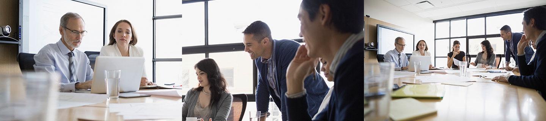 Bild HR- Strategie. Iventa Mitarbeiter während eines internen Meetings.