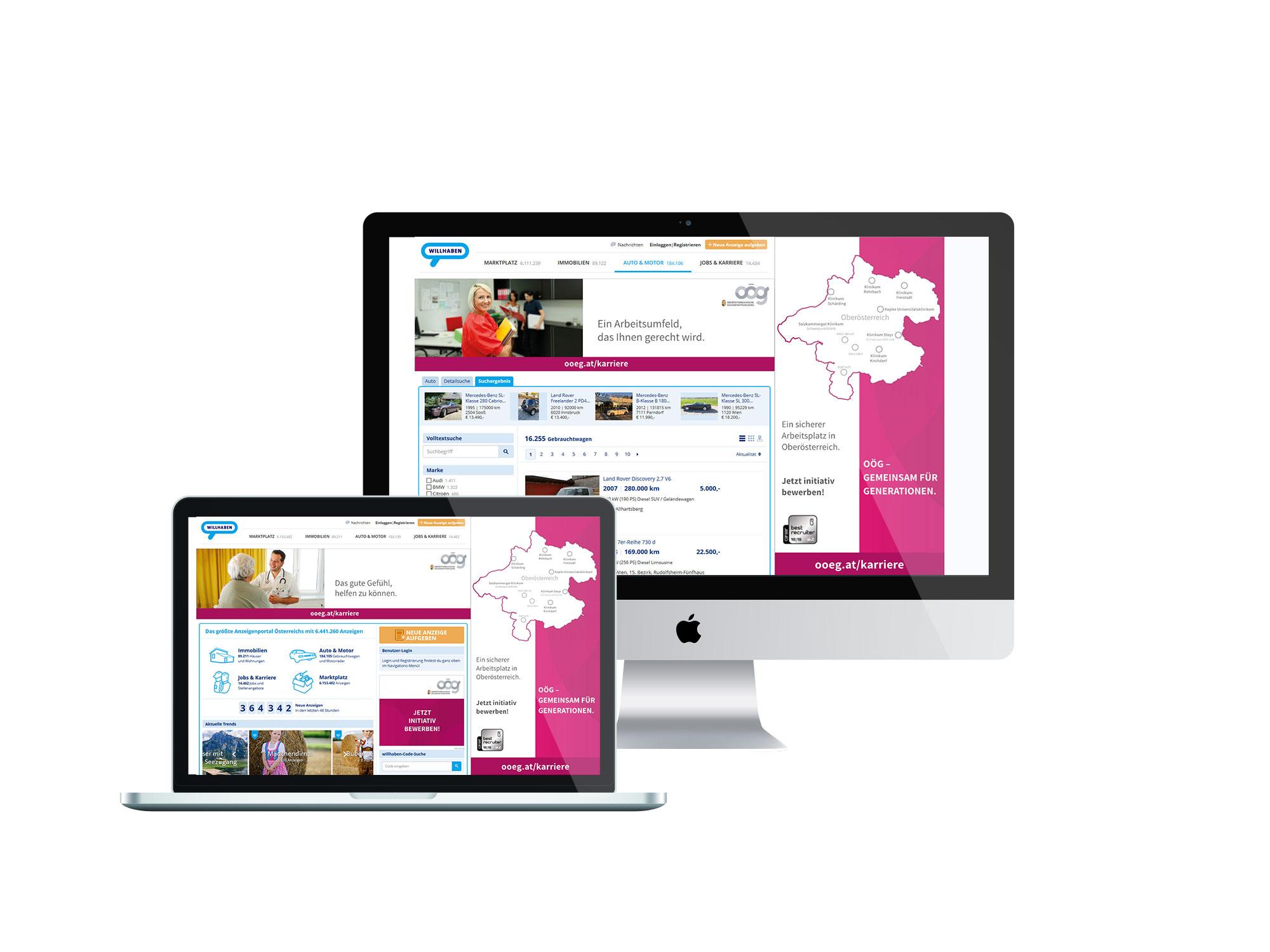OOEG Full Site Branding willhaben.at